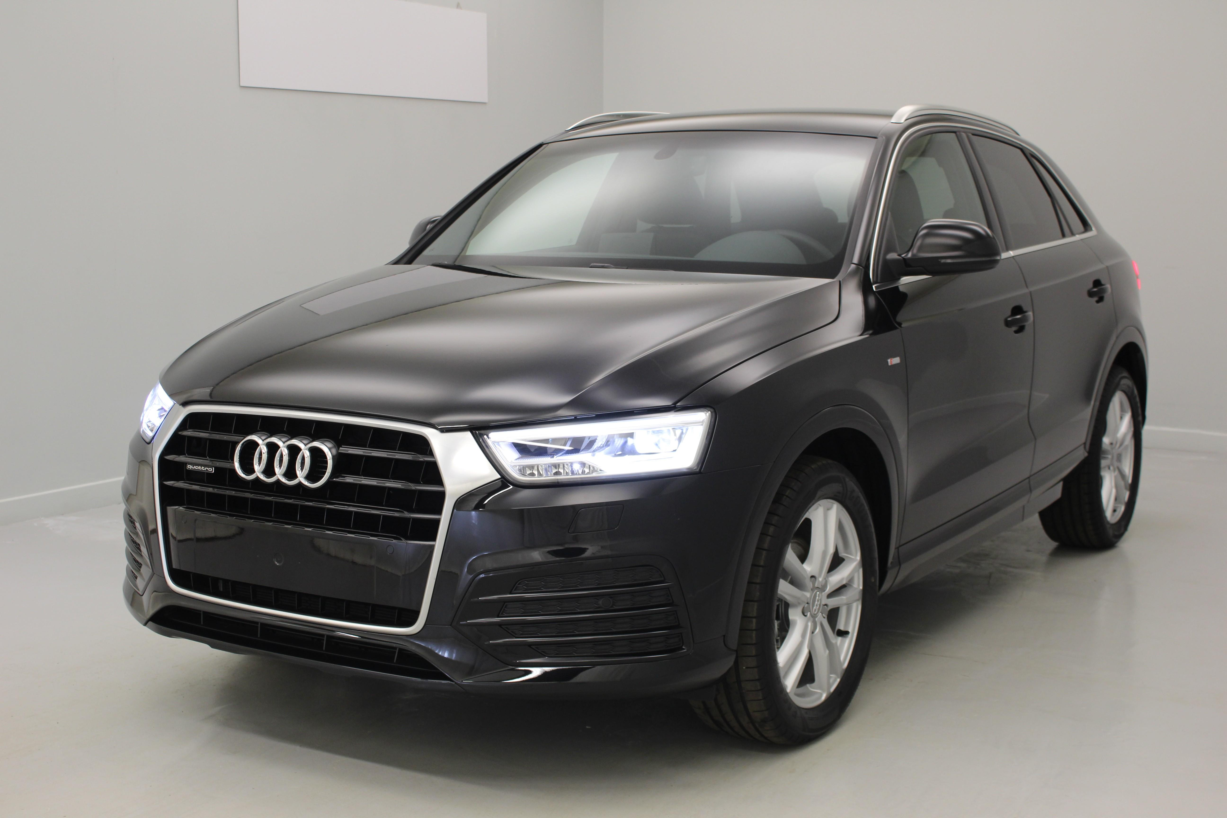 audi q3 2 0 tdi 150 ch s tronic 7 quattro s line noir. Black Bedroom Furniture Sets. Home Design Ideas