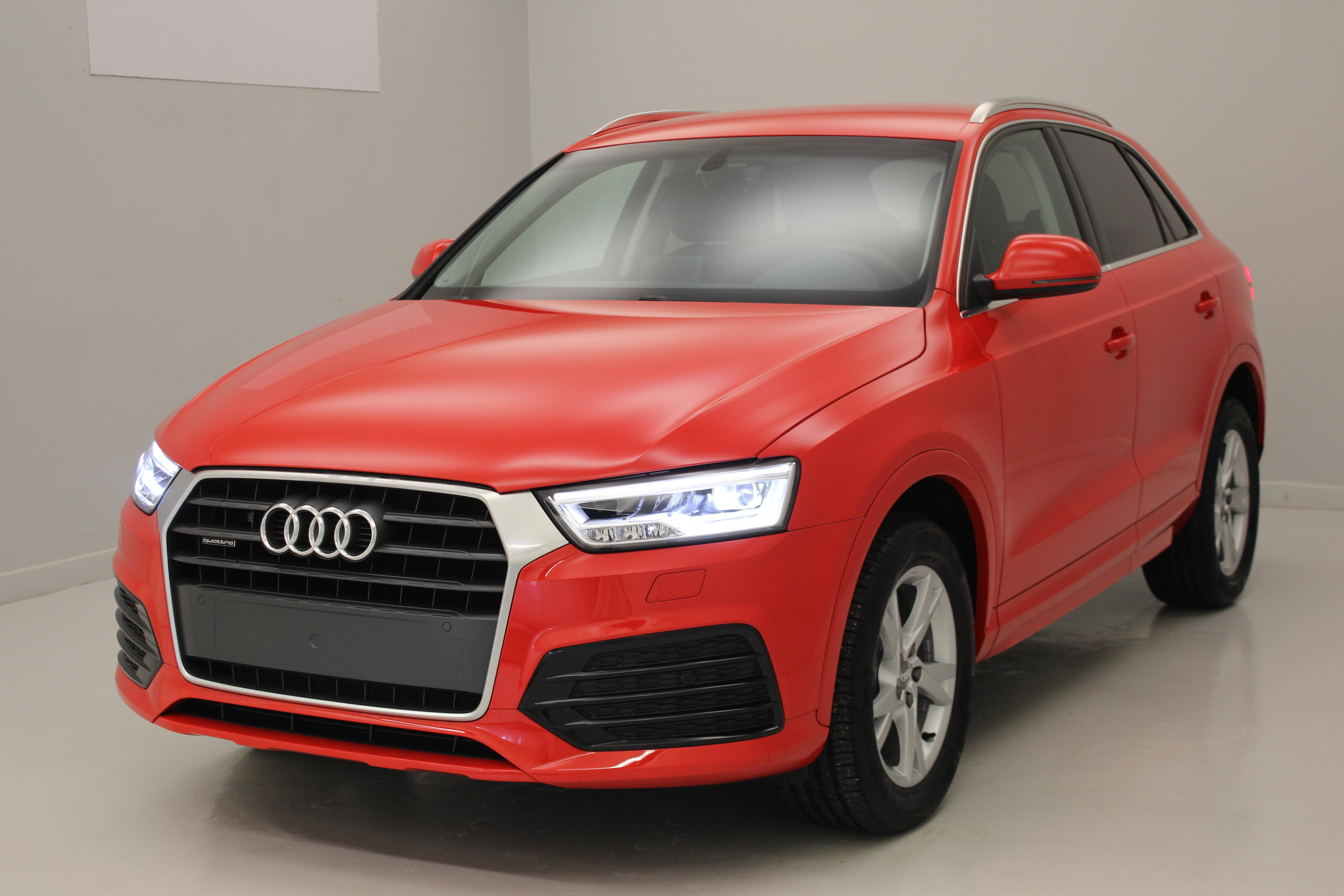 audi q3 2 0 tdi 150 ch s tronic 7 quattro ambiente rouge misano navigation phares full led. Black Bedroom Furniture Sets. Home Design Ideas